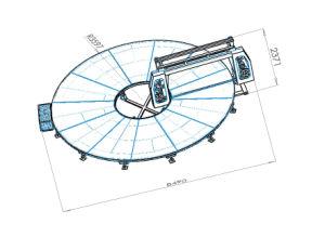PUのマットレスの泡のための円の打抜き機