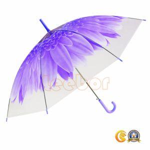 自動より安い花の印刷Poeの紫色のまっすぐな傘