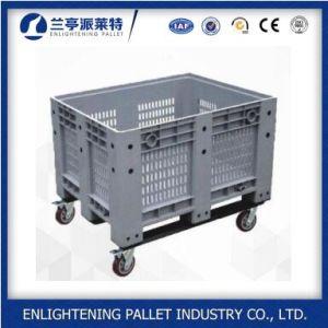 Grau Alimentício resistente caixa de paletes de plástico grande 606L