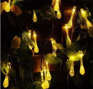 30LED Christams Licht-Wasser-Absinken-feenhafte Zeichenkette-Solarlichter für im Freiengarten-Dekoration-Beleuchtung