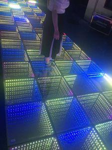 LED 3D'abîme de miroir de la tuile du panneau de plancher de danse