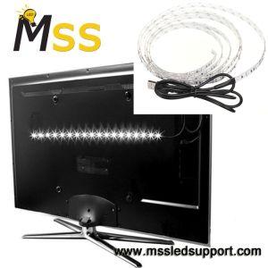 Indicatore luminoso di striscia del USB LED di illuminazione DC5V 5050 della priorità bassa di RGB 1m TV