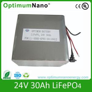24V 30Ah batería recargable de litio de ciclo profundo