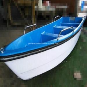 長いベンチが付いている4.2mのガラス繊維の漁船