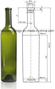 Mejor precio de pequeño tamaño 750ml botella de vino de cristal de la tapa corona