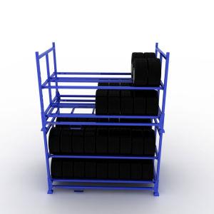 Heavy Duty empilable de stockage de l'acier pour les pneus de Rack de pliage
