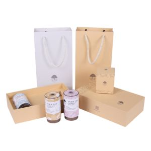 Impreso personalizado elegante Kraft bolsas de té Caja de embalaje de papel