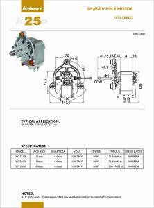 AC Shaded-Pole Motor Eléctrico Motor Micro-Oven Barbacoa Grill de horno