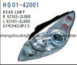ヒュンダイI30 2007年の車のための予備品の前部/Head自動ランプ。 # OEM: 92101-2L000/92102-2L000