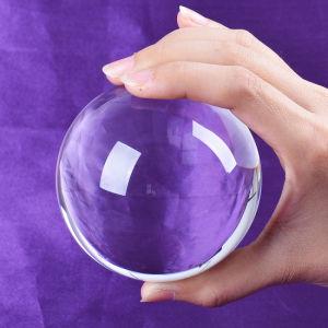 La decoración del hogar de 100 mm de bola de cristal transparente