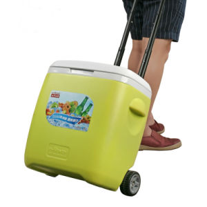 昼食のための車輪が付いているトロリークーラー袋の&Box