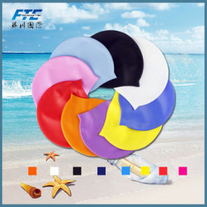 Logotipo personalizado da tampa de silicone à prova as toucas de natação