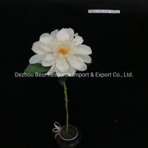Один стержень искусственный шелк Dahlia фиолетовый Шелковый Dahlias цветов