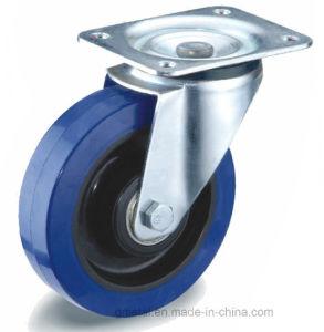 Goma elástica azul/ Negro Rueda de nylon con rodamiento de rodillos
