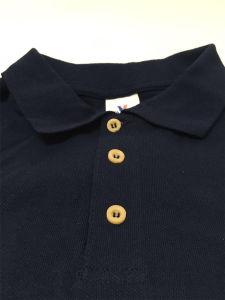 Maglietta 100% di polo del Mens del cotone