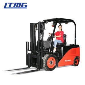 Ltmg 1,5 тонны 2 тонн 2,5 тонны 3 тонны мини-электрический вилочный погрузчик с твердых шины, кабина, бокового смещения и трехсекционной мачтой