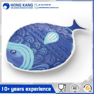 La impresión de dibujos animados de vajillas de melamina de la cena de la placa de plástico
