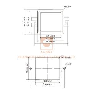 Wahlweise freigestellten haltbaren Plastikhöhenruder-Druckknopf (SN-PB118) färben