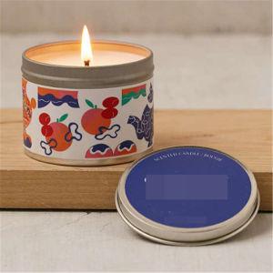 Etiqueta de luxo de viajar por velas de cera de soja de estanho