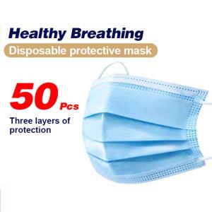 Ce/FDA Non-Woven Disposible 3 plis Masque Masque protecteur avec contour