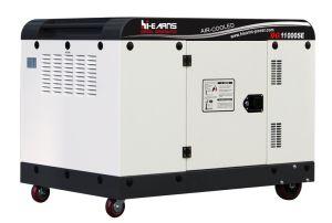 7.5kw 침묵하는 유형 공냉식 디젤 엔진 발전기 시리즈 Dg11000se