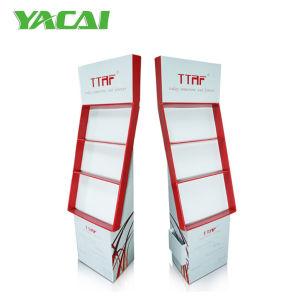 Shenzhen-Lieferanten-Pappfußbodenbildschirmanzeige für Zubehör-Förderung-Supermarkt-Regal