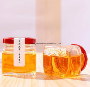 De Kruik van het Glas van het Domein van de Jam van de honing met Draai van GLB