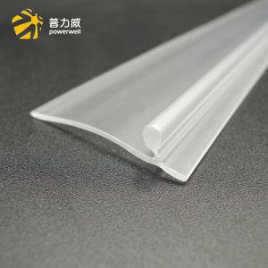 Extrusão de plásticos T Shape Fita de vedação de plástico transparente de raspador para imprensa