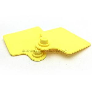 Gamme RFID de gros 3M 80x70mm UHF marques auriculaires des animaux avec/sans numéro d'impression laser