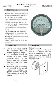 manometro di differenziale di induzione magnetica del prodotto di brevetto Cts-110 di 60mm