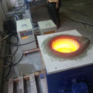 La inducción eléctrica Aluminio Cobre Latón Oro horno de fundición de plata de la máquina