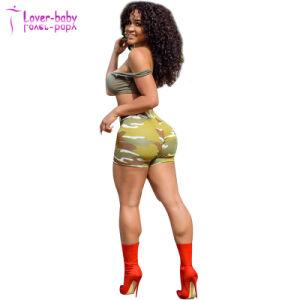 Moda Mujer camuflaje cortos de impresión