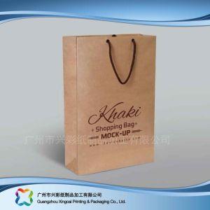 L'emballage en papier kraft personnalisé SAC SAC /un sac de shopping de vêtements et le thé (XC-bgg-005)