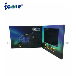 catalogo dell'opuscolo dell'affissione a cristalli liquidi di Digitahi del fornitore cinese 7inch video per la pubblicità del negozio