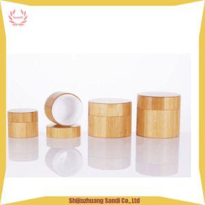 装飾的な包装の瓶の木のタケ瓶の表面クリームの瓶
