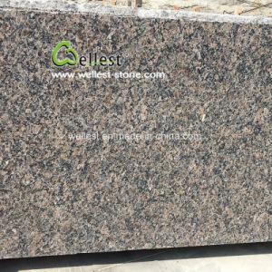 カウンタートップのための高く磨かれた帝国ブラウンの花こう岩の平板