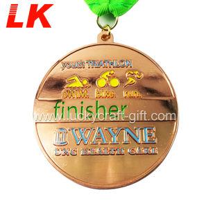 カスタム新しい水泳は金属メダルを遊ばす