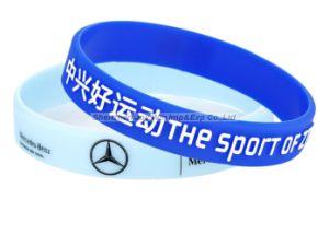 Braccialetti del silicone del Silkscreen per la promozione di affari di marca