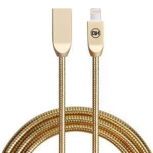Cavo di carico del micro di C3320 2.4A 1m di dati in lega di zinco del USB (ORO della ROSA)