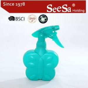 300ml botella de PE de plástico transparente de la mano una presión pulverizador de gatillo (SX-2084)