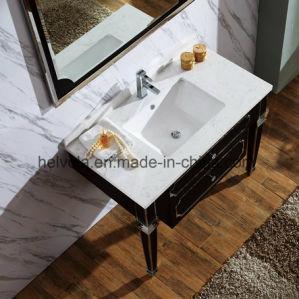 Gesundheitlicher Ware-Badezimmer-Bassin-Zubehör-Schrank-Badezimmer-Möbel-festes Holz Kurbelgehäuse-BelüftungMDF mit Spiegel-Edelstahl-Badezimmer-Eitelkeit 6