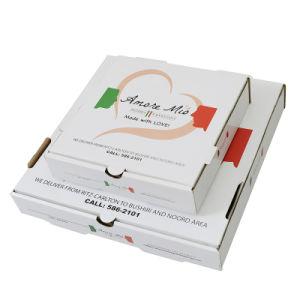 Boîte de pizza en carton ondulé de papier pour l'emballage alimentaire