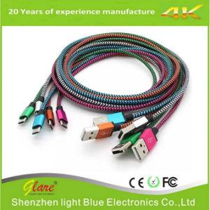 Pin pianamente in lega di zinco 2.4A 8 al cavo del caricatore di dati del USB