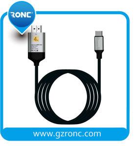 Velocidade alta 4K@60Hz UHD 3D2160p Tipo C para cabo HDMI para a televisão 3D