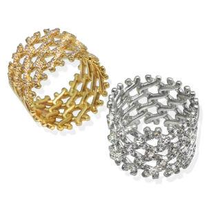 35c6ce53a1e2 2018 Nuevo Diseño de joyas de plata 925 CZ Joyas Anillo de la moda ...