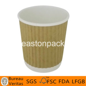 4oz de bruine Kop van het Document van de Koffie van de Rimpeling Hete