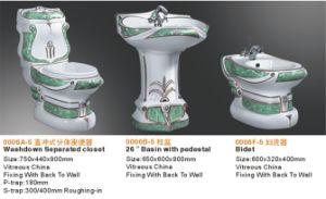 Тазик мытья туалета и комплект ванной комнаты 3PCS Sanitaryware Bidet керамический