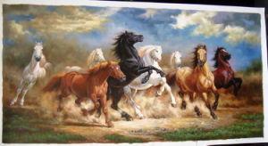 キャンバスの絵画の馬