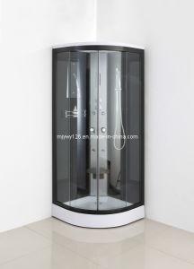 Prefabricados de color negro el cuarto de baño ducha