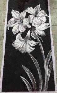 背景デザインモザイク、ガラス芸術パターンモザイク壁のタイル(HMP886)
